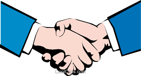 Hands shaking Royalty Free Vector Clip Art illustration hand0052