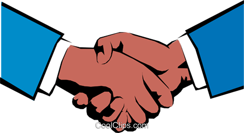 Hands shaking Royalty Free Vector Clip Art illustration hand0053