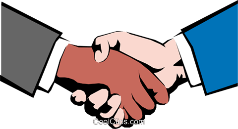 Hands shaking Royalty Free Vector Clip Art illustration hand0054
