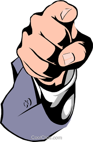 Pointing fingers Royalty Free Vector Clip Art illustration hand0091