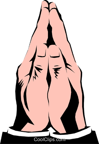 Praying hands Royalty Free Vector Clip Art illustration hand0106