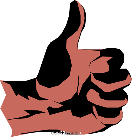 Thumbs up Royalty Free Vector Clip Art illustration hand0124