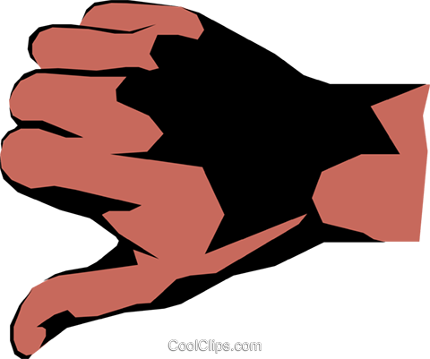 Thumbs down Royalty Free Vector Clip Art illustration hand0126