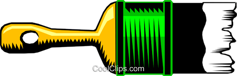 Paintbrush Royalty Free Vector Clip Art illustration indu0055