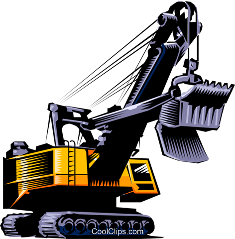 Steam shovel Royalty Free Vector Clip Art illustration indu0099
