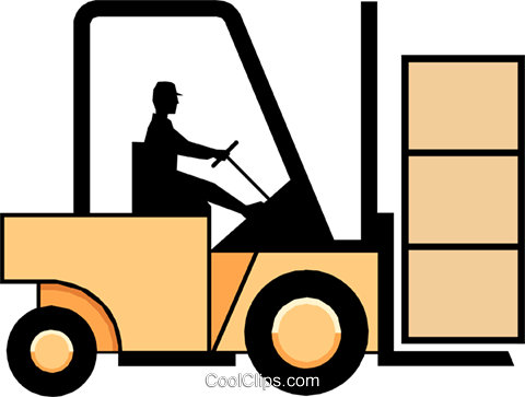 Forklifts Royalty Free Vector Clip Art illustration indu0116