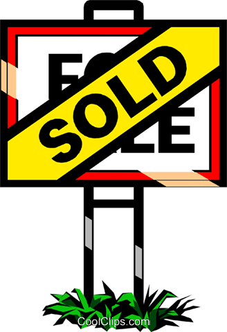 Real estate - Sold sign Royalty Free Vector Clip Art illustration indu0118