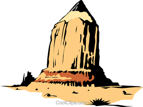 Pencil mountain Royalty Free Vector Clip Art illustration natu0218