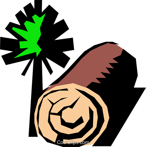 Forestry Royalty Free Vector Clip Art illustration natu0219