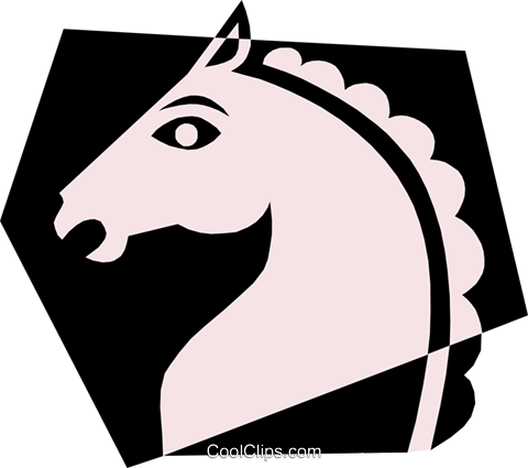 Horse Royalty Free Vector Clip Art illustration anim0483