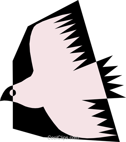 Bird Royalty Free Vector Clip Art illustration anim0484
