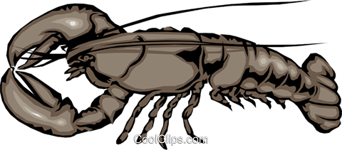 Lobster Royalty Free Vector Clip Art illustration anim0495