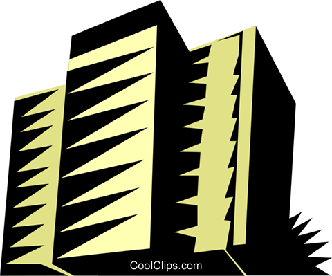 Apartment buildings Royalty Free Vector Clip Art illustration arch0225