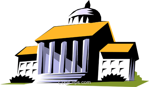 Courthouse symbol Royalty Free Vector Clip Art illustration arch0231