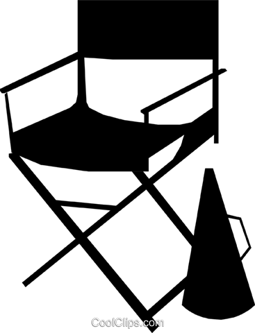 Director's chair Royalty Free Vector Clip Art illustration arts0126