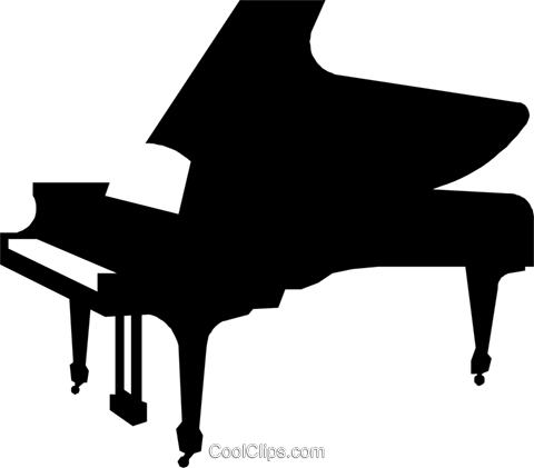 Grand pianos Royalty Free Vector Clip Art illustration arts0127