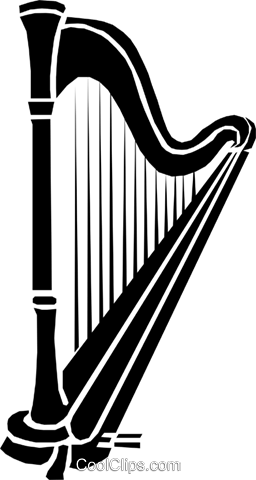 Harp Royalty Free Vector Clip Art illustration arts0128