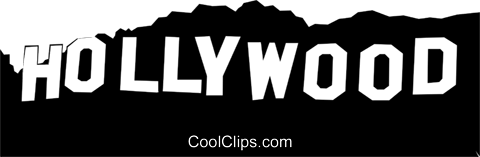 Hollywood sign Royalty Free Vector Clip Art illustration arts0129