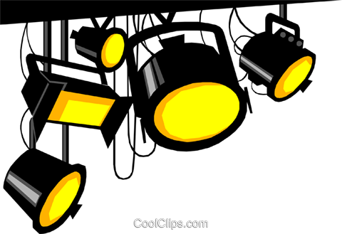 Stage lights Royalty Free Vector Clip Art illustration arts0131