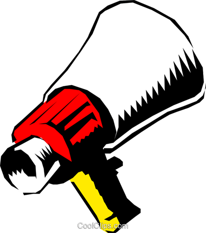 Megaphone Royalty Free Vector Clip Art illustration arts0134