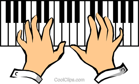 Piano keyboards Royalty Free Vector Clip Art illustration arts0138