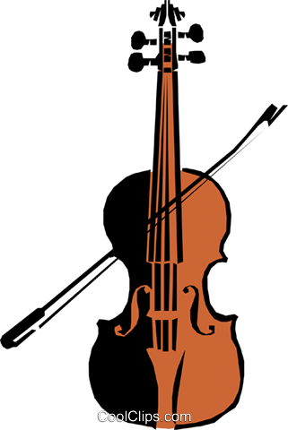 Violin Royalty Free Vector Clip Art illustration arts0142