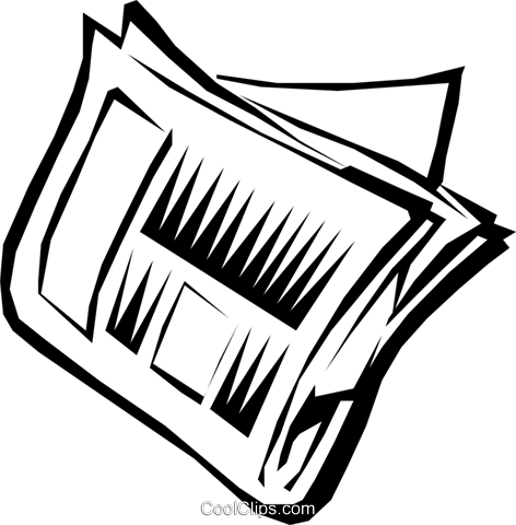 Newspaper Royalty Free Vector Clip Art illustration ...