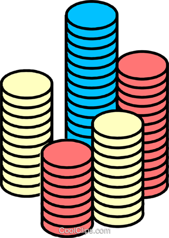 Poker chips Royalty Free Vector Clip Art illustration busi0379