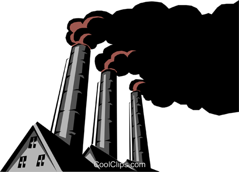 Pollution Royalty Free Vector Clip Art illustration envi0092