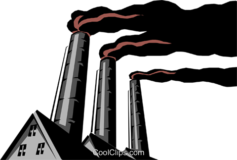 Pollution Royalty Free Vector Clip Art illustration envi0093