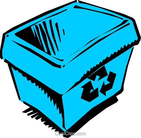 Blue box Royalty Free Vector Clip Art illustration envi0096