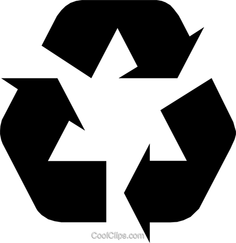 Recycle logo Royalty Free Vector Clip Art illustration envi0097