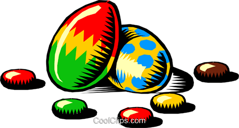 Easter eggs Royalty Free Vector Clip Art illustration even0201