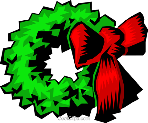 Christmas wreath Royalty Free Vector Clip Art illustration even0206