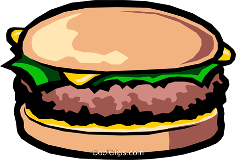 Cheese Hamburger Royalty Free Vector Clip Art illustration food0404