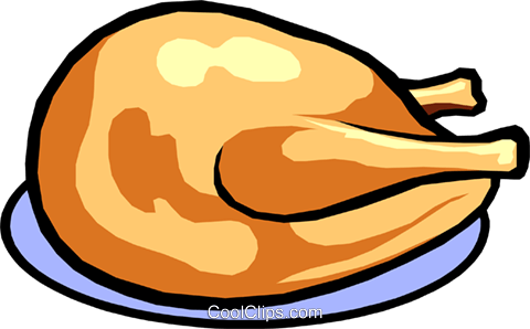 Poultry Royalty Free Vector Clip Art illustration food0412