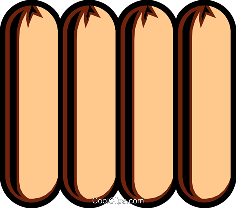 Sausages Royalty Free Vector Clip Art illustration food0415