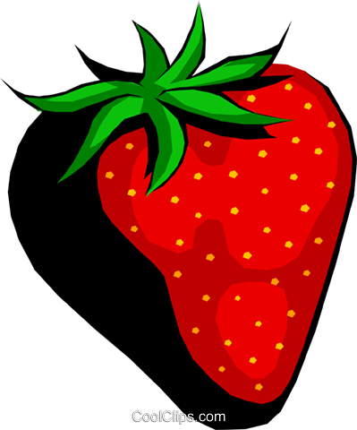 Large Strawberry Royalty Free Vector Clip Art illustration food0419