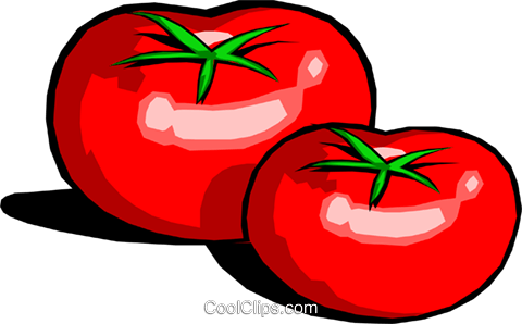 Tomatoes Royalty Free Vector Clip Art illustration food0420