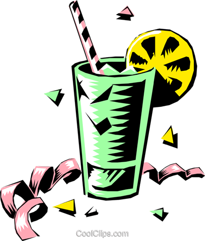 Cool drink Royalty Free Vector Clip Art illustration food0421