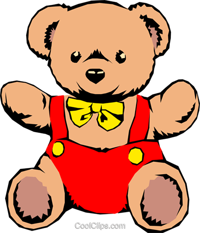 Teddy bears Royalty Free Vector Clip Art illustration hous0391