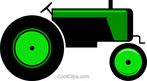 Farm tractor Royalty Free Vector Clip Art illustration indu0235
