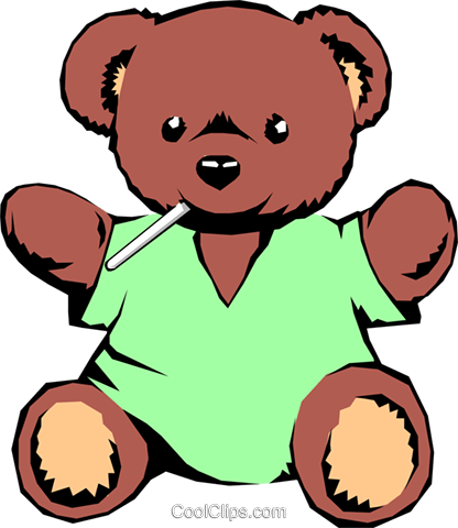 Teddy bear Royalty Free Vector Clip Art illustration medi0050