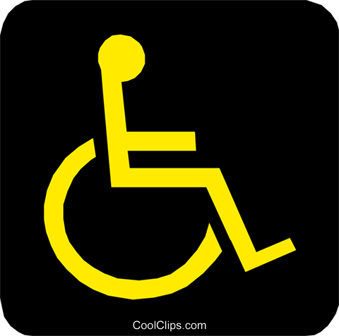 Handicapped symbol Royalty Free Vector Clip Art illustration medi0078