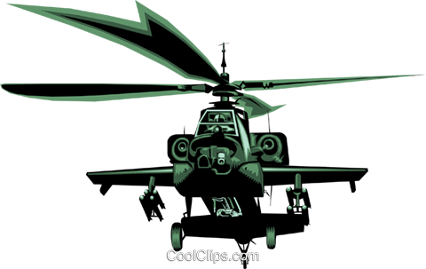 AH 64 helicopter Royalty Free Vector Clip Art illustration mili0013