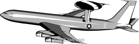 AWACS jet Royalty Free Vector Clip Art illustration mili0032