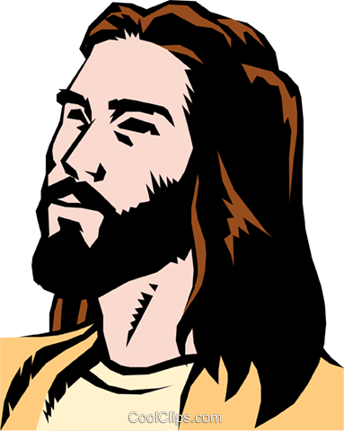 Jesus Christ Royalty Free Vector Clip Art illustration reli0047