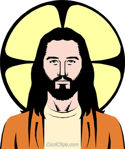Jesus Christ Royalty Free Vector Clip Art illustration reli0048