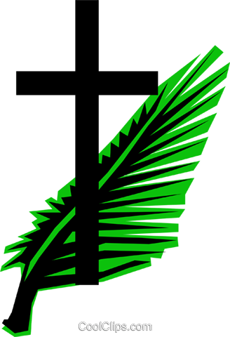 cross palm branches royalty free vector clip art illustration rh search coolclips com Crucifix Clip Art Crucifix Clip Art