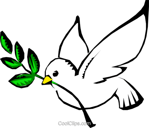 Dove of peace Royalty Free Vector Clip Art illustration reli0051